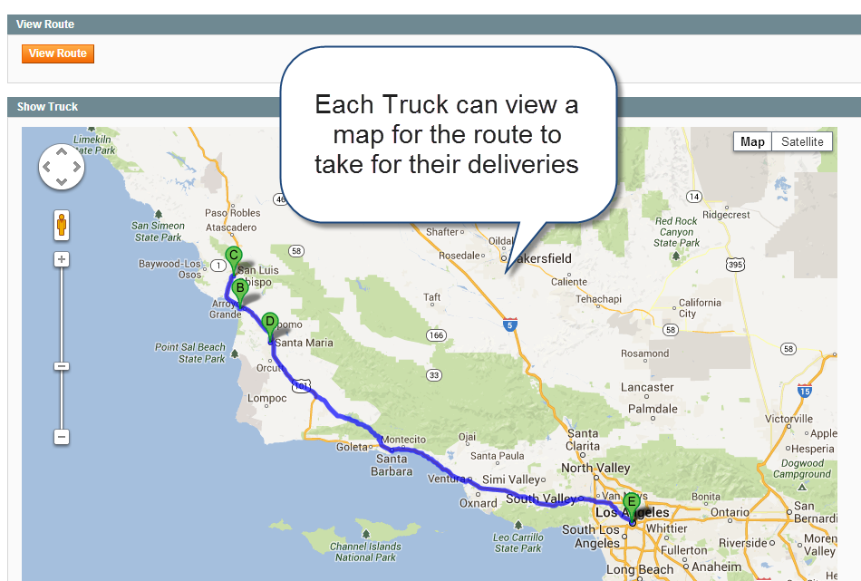 google maps truck routing extension rental software