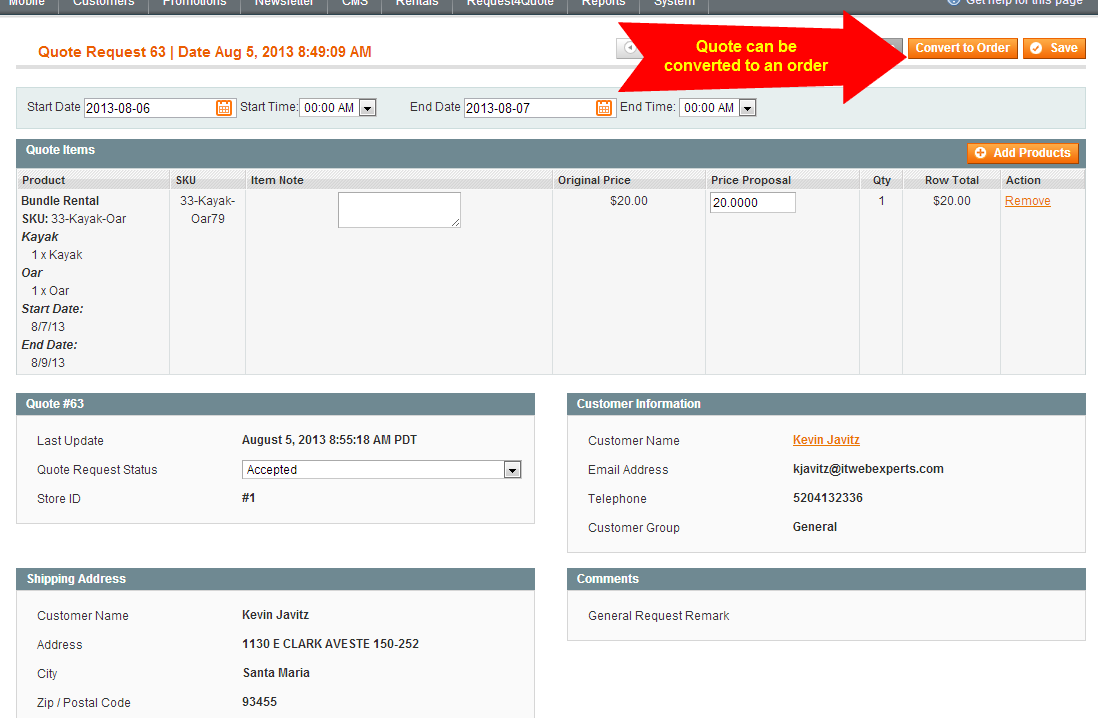 Request For Quote Magento Request For Quote Extension Module With Pdf Generation