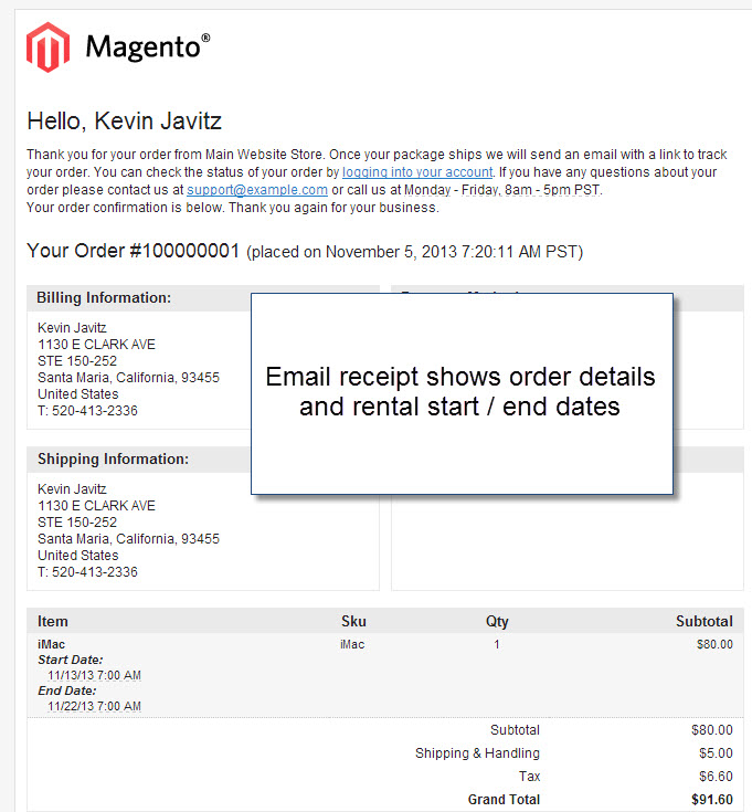 Magento 1 9 Online Rental Booking System