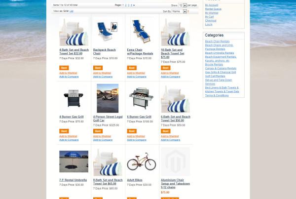 Sandlappers Beach Rentals Homepage