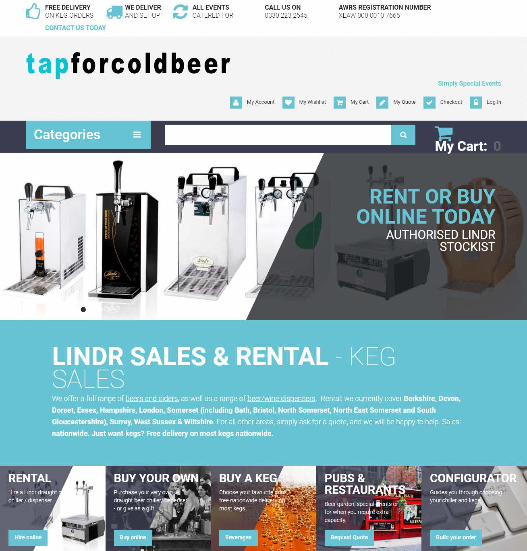 Tap For Cold Beer Rental Software Amp Online Booking System